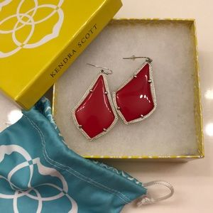 Red & Silver KS Alexandra Earrings